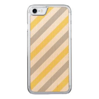 Capa iPhone 8/ 7 Carved Teste padrão diagonal cinzento e amarelo das