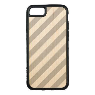 Capa iPhone 8/ 7 Carved Teste padrão diagonal do cinza e o branco das