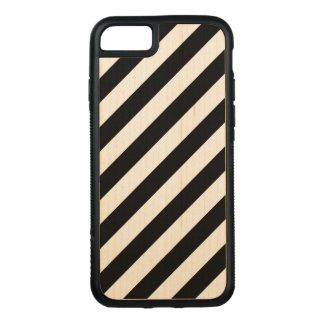 Capa iPhone 8/ 7 Carved Teste padrão diagonal preto e branco das listras