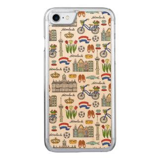 Capa iPhone 8/ 7 Carved Teste padrão do Doodle de Netherland