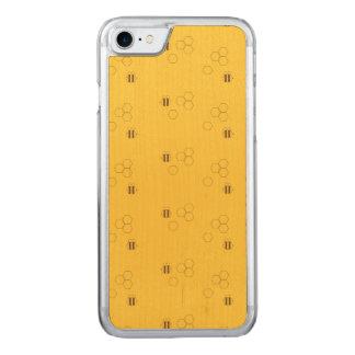 Capa iPhone 8/ 7 Carved Teste padrão do favo de mel da abelha