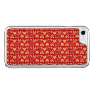 Capa iPhone 8/ 7 Carved Teste padrão dos corações