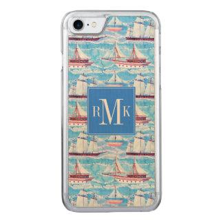 Capa iPhone 8/ 7 Carved Teste padrão dos navios de navigação da aguarela