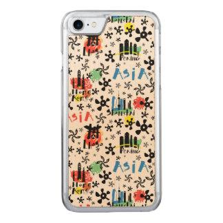 Capa iPhone 8/ 7 Carved Teste padrão dos símbolos de Ásia |