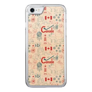 Capa iPhone 8/ 7 Carved Teste padrão dos símbolos de Canadá |