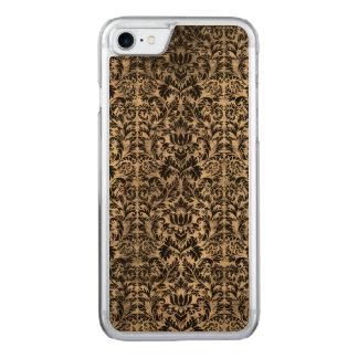 Capa iPhone 8/ 7 Carved Teste padrão envelhecido do preto do estilo do