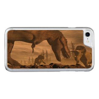 Capa iPhone 8/ 7 Carved Tiranossauro que ruje no triceratops - 3D rendem