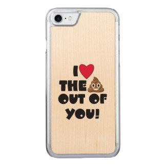 Capa iPhone 8/ 7 Carved Tombadilho Emoji do amor
