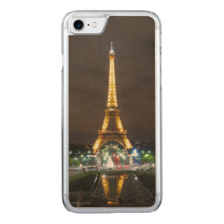 Capa iPhone 8/ 7 Carved Torre Eiffel na noite, Paris