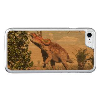 Capa iPhone 8/ 7 Carved Triceratops que come na árvore da magnólia - 3D