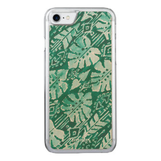 Capa iPhone 8/ 7 Carved Tropical tribal verde havaiano da SELVA IKAT