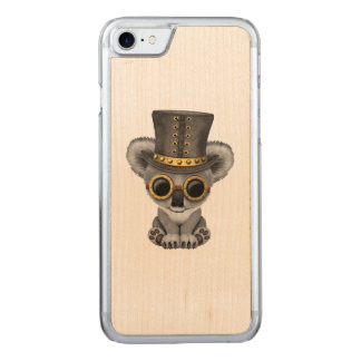 Capa iPhone 8/ 7 Carved Urso de Koala bonito do bebê de Steampunk