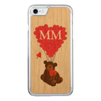 Capa iPhone 8/ 7 Carved urso de ursinho e coração do amor