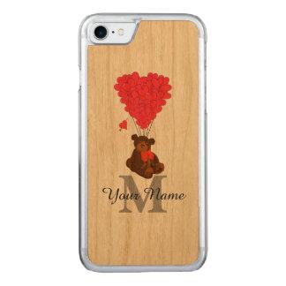 Capa iPhone 8/ 7 Carved Urso de ursinho romântico do divertimento