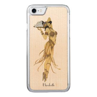 Capa iPhone 8/ 7 Carved Vintage bonito que dança a menina retro
