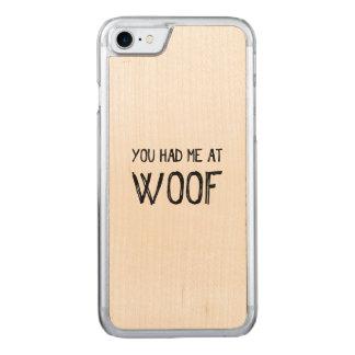 Capa iPhone 8/ 7 Carved Você teve-me no caso de madeira do iPhone 7 do