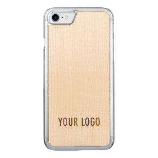 Capa iPhone 8/ 7 Carved Volume de madeira cinzelado do logotipo do negócio