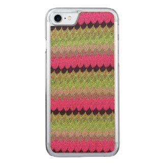 Capa iPhone 8/ 7 Carved Weave feito malha da onda do preto do verde da