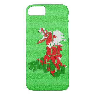 Capa iPhone 8/ 7 Casa de Wales da caixa do móbil do rugby