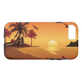 Capa iPhone 8/ 7 Casal que anda na praia