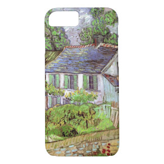 Capa iPhone 8/ 7 Casas de Van Gogh em Auvers, belas artes do