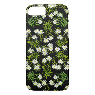 Capa iPhone 8/ 7 Caso alpino do iPhone 7 das flores de Edelweiss do