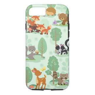 Capa iPhone 8/ 7 Caso animal de Iphone 7 da floresta
