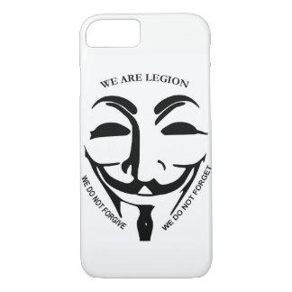 Capa iPhone 8/ 7 Caso anónimo de Iphone 7