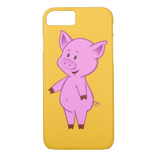 Capa iPhone 8/ 7 Caso bonito do iPhone 7 do porco dos desenhos