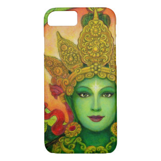 Capa iPhone 8/ 7 Caso budista do iPhone 7 de Tara do verde da deusa