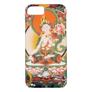 Capa iPhone 8/ 7 Caso budista tibetano do iPhone 6 da arte