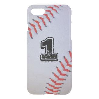 Capa iPhone 8/7 caso claro do basebol do iPhone 7