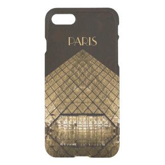Capa iPhone 8/7 Caso claro do iPhone 7 da pirâmide do Louvre