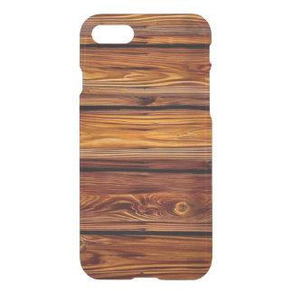 Capa iPhone 8/7 Caso claro do iPhone 7 de madeira do celeiro