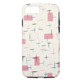 Capa iPhone 8/ 7 Caso cor-de-rosa atômico retro do iPhone 6 do
