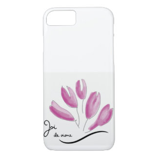 Capa iPhone 8/ 7 Caso cor-de-rosa de Joi de vivre para o iPhone