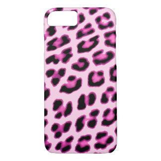 Capa iPhone 8/ 7 Caso cor-de-rosa do impressão do leopardo