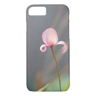 Capa iPhone 8/ 7 Caso cor-de-rosa do iPhone 7 da flor em botão