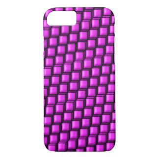 Capa iPhone 8/ 7 Caso cor-de-rosa do iPhone 7 dos quadrados mal lá
