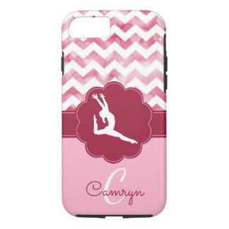 Capa iPhone 8/ 7 Caso cor-de-rosa do telemóvel da ginástica