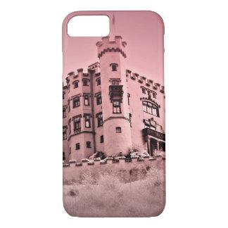 Capa iPhone 8/ 7 Caso cor-de-rosa do telemóvel do castelo