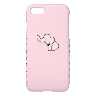 Capa iPhone 8/7 caso cor-de-rosa matte do iPhone 7 do elefante do