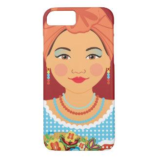 Capa iPhone 8/ 7 Caso cubano de Matryoshka do Sienna