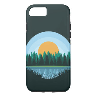 Capa iPhone 8/ 7 Caso da paisagem do lago