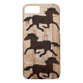 Capa iPhone 8/ 7 Caso de madeira rústico do iPhone 7 do vaqueiro