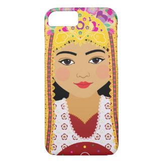Capa iPhone 8/ 7 Caso de Matryoshka do Uzbeque