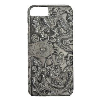 Capa iPhone 8/ 7 caso de prata antigo do iPhone 7 do dragão