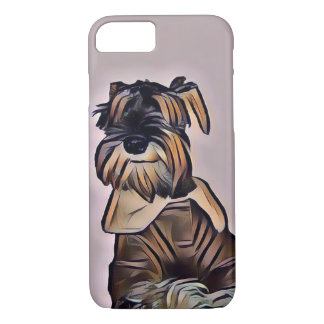 Capa iPhone 8/ 7 Caso de Smartphone do cão do Schnauzer