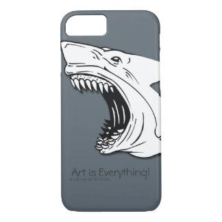 Capa iPhone 8/ 7 Caso do iPhone 6/6s da case mate do tubarão mal lá