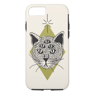 Capa iPhone 8/ 7 caso do iPhone 6 do gato 5-Eyed